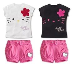 HELLO KITTY GIRL SET ( SIZE 100-140 )