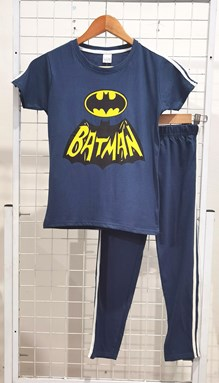 SIZE 9/10 BIG KIDS Pyjamas PLAIN BIG BATMAN Dark Turquoise - Short Sleeve (Big Size) 9y-14y (KWF)