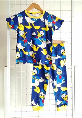 Pyjamas DONALD DUCK ACTION DARK BLUE : BABY size 6M - 12M (HELAL)