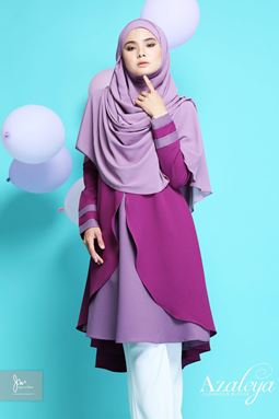 AZALEYA LUXURIOUS BLOUSE ( Purple Indigo )