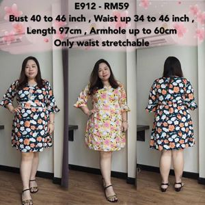 E912 *Ready Stock *Bust 40 to 46inch/101-116cm