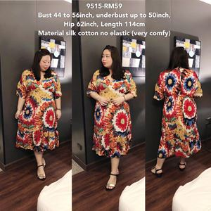 9515 Ready Stock *Bust 44 to 56 inch/ 111-142cm