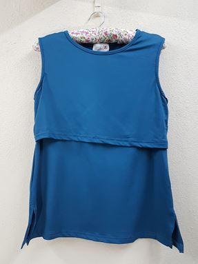 Sleeveless Nursing Inner (Basic Blue) - Size Big Only