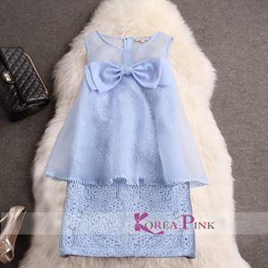 Korea Pink - Blue Dress