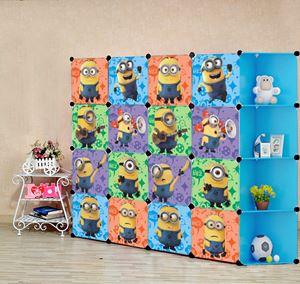 Minion Blue 16C DIY Cube w Corner Rack (MN16CB)