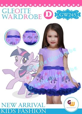@  GW 245 DRESS  { D ~ PONY PURPLE }  ( SZ 2Y - 13Y )