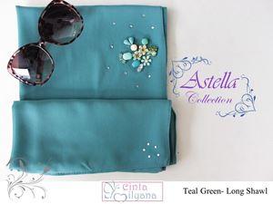 Astella Handcrafted Shawl (TEAL GREEN)