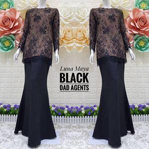 Kurung Luna Maya Lace Black