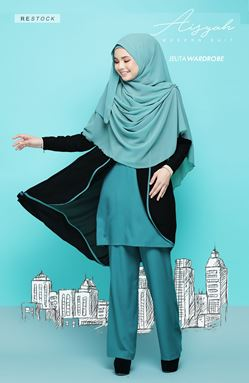 AISYAH SUIT 06 (CADET BLUE)
