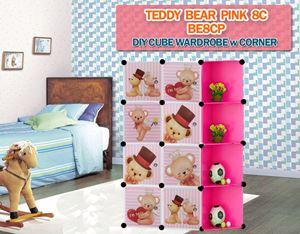 Teddy Bear 8C DIY CUBE WARDROBE w CORNER RACK (BE8CP)