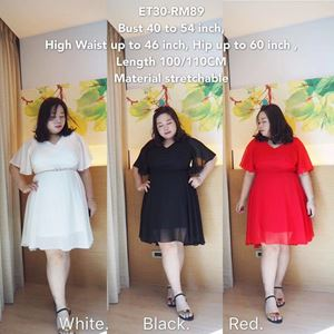 ET30 *Ready Stock  *Bust 40 to 54inch/102-137cm