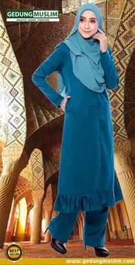 JUBAH AZ ZAHRAA - TEAL BLUE