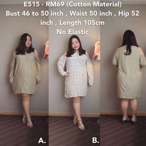 Ready stock -E515 *Bust 46 to 50 inch/116-127cm