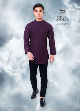 Kurta Ammar For Him (Daskin Purple)