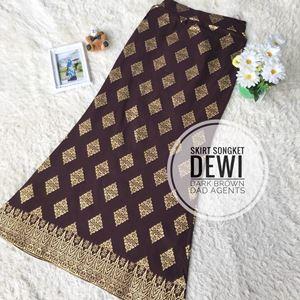 Skirt Songket Dewi Dark Brown
