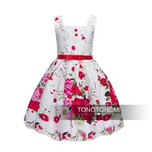 CLEARANCE STOCK RED FLOWER BEAUTIFUL DRESS