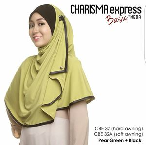 Charisma Basic (Pear Green+ Black) Hard Awning