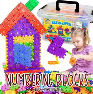 Numbering Blocks 110pcs set with Box