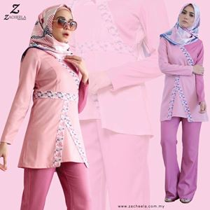 MALENA BLOUSE & PANTS (PINK)