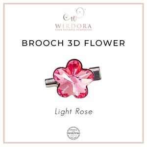 Brooch Fancy Flower Light Rose