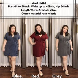 9523 Ready Stock *Bust 44 to 50 inch/ 111-127cm