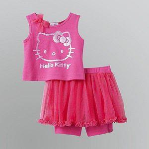 @  G071/14 KITTY PINK 2 PCS SET (  Top + Pants )