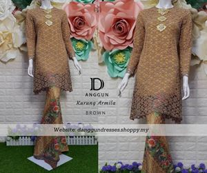 Kurung Lace Armila Brown