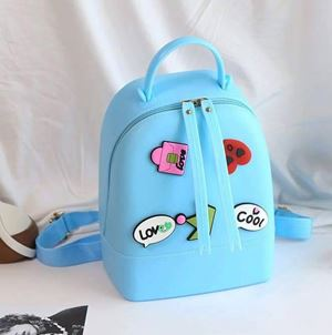 SILICONE JELLY BACKPACK ( BLUE )