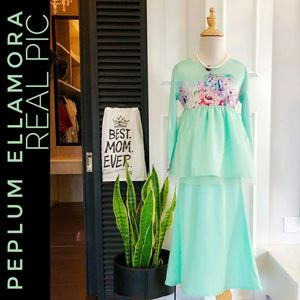 ELLAMORA MODERN PEPLUM FOR KIDS ( MINT GREEN)