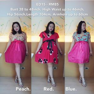 ED15 Ready Stock *Bust 38 to 48inch / 96-122cm