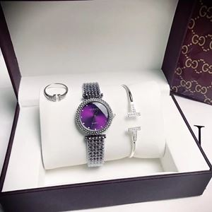 GUCC08 A02 GUCCI Elegant Watch Set (Watch + Bangle + Ring )