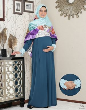 Siti Aafiyah Dress : Dark Teal