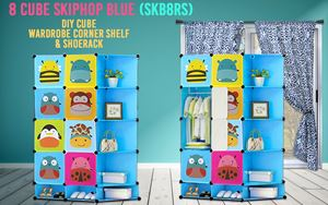 Skiphop Blue 8C DIY Cube w Corner Rack & Shoerack (SKB8RS)