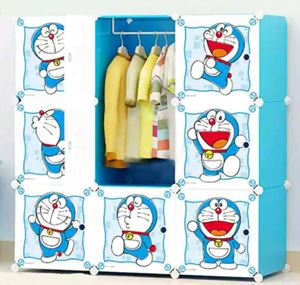 Doraemon DIY 9 Cube Wardrobe Blue