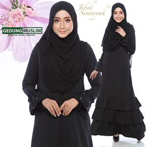 JUBAH SUMAYYAH - BLACK  COLOR