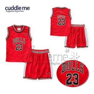 #  BULLS 23 RED CASUAL WEAR  ( SZ 1Y-5Y )  #