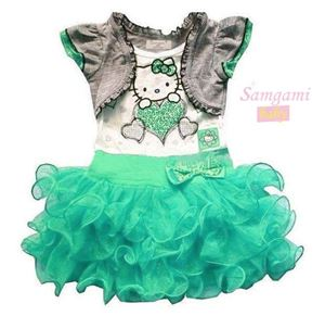 @  P30226-A  KITTY GREEN DRESS
