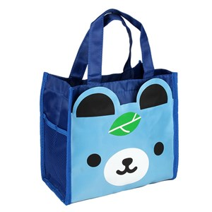 Hand Carry Cartoon Lunch Bag (  BLUE BEAR)