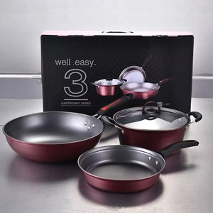 3 in 1 Cookware Set Cooking Pan & Pot