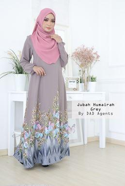 Jubah Humairah Grey