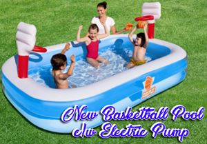 New Basketball Poolc/w Electric Pump