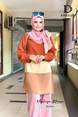 Blouse Khaleeja Brown
