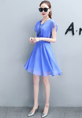 A-Word Chiffon Dress