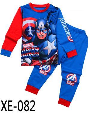XE-082 'Captain Americe' Pyjama (2 - 7 tahun)
