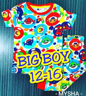 Pyjamas SHARK BUBBLE :  Big Size 12-16