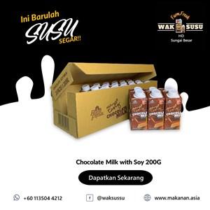 Chocolate Milk with Soy 200G X 24 PKTS