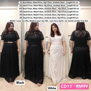 CD11 Ready Stock *Bust 42 to 51 inch/ 106-131cm
