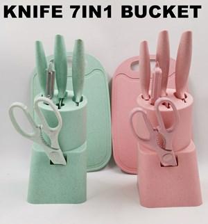 7PCS KNIVE BUCKET