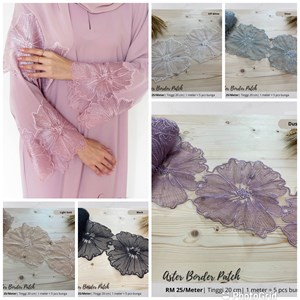 Aster border Lace