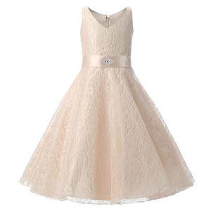 @  Girls Lace Princess Dress - CHAMPAGNE  ( SZ 130-160 )